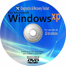 WINDOWS XP Recovery Restore Repair Fix PC Laptop Computers Boot Disc DVD