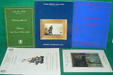 3 catalogues vente enchères DROUOT Tableaux modernes Art Nouveau Deco 1990