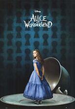 ALICE IN WONDERLAND MOVIE POSTER ~ TEA CUP 27x39 Tim Burton Mia Wasikowska