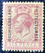 Bechuanaland George V GB 6d Purple Mounted Mint SG 97 Cat. Value £50 In 2016