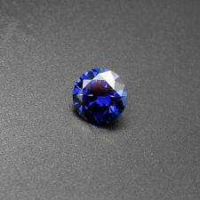 6mm AAAAA Blue Sapphire Round Shape Faceted Cut 1.37ct VVS Loose Gemstone