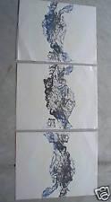 BIG Vintage Nancy Davis Abstract Triple Print LOOK