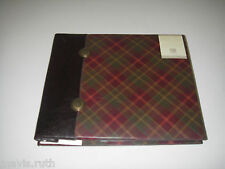 K&Company Mini Scrapbook 50/4x6 Photo Album Journal Tag Leather/Plaid One-Pocket