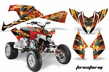 ATV Decal Graphic Kit Quad Wrap For Polaris Outlaw 450 525 2009-2012 FIRESTORM R