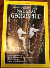 August 1988 National Geographic Lemurs Remington vintage back issue Excellent