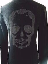 S228 Zadig & Voltaire Nosfa Bis M Skull Jumper Merino Wool Sweater S