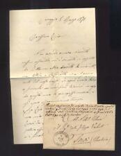 Lettera Prefilatelica da Correggio a Trevi Umbria 1871 timbro Correggio Emilia R