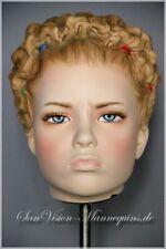 ♛ WISSLER Kopf v. Schaufensterpuppe  Kind Mannequin head Schaufensterfigur 4