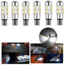 T10 194 168 White 5630 LED 10 SMD 6V CANBUS ERROR FREE Car Side Wedge Light Bulb