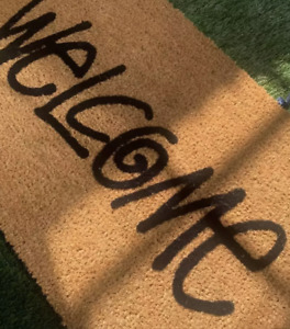 Stussy mat rug welcome brown