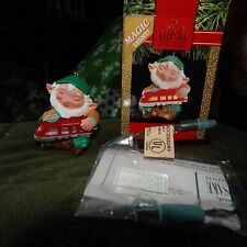 Hallmark Keepsake Lighted Ornament in Box, Elfin Engineer from 1991
