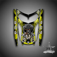 SKI-DOO REV MXZ SNOWMOBILE WRAP GRAPHICS HOOD DECAL 03-07 COWBOY OUTLAW YELLOW