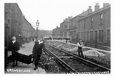 pt2102 - Laying Tram Rails  Brewery Lane , Dewsbury , Yorkshire - photograph 6x4