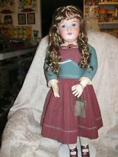 "Sweet 28"" Antique Bisque Head Armand Marseille Doll Bj Compo Body - 390 A 12 M"