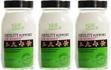 Natural Health Practice Fertility Support for Women - 60 Capsules (Pack of 3)