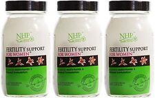 Práctica de salud natural de la fertilidad Soporte Para Mujeres - 60 cápsulas (paquete de 3)