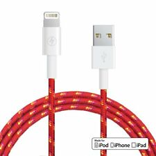5 Ft 1.5m Fabric Braided Lightning cable FOR Apple [MFi Certified] Sunset Color