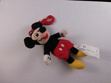New Walt Disney Company Soft / Plush / Beanie Mickey Mouse Keyring (approx 13cm)