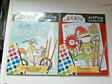 Adornit Colouring Book: Critter Friends, Christma ,Quality Watercolour Card, NEW