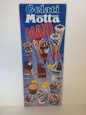 Gelati Motta insegna listino prezzi anni 80 ottime condizioni vintage