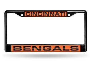 Cincinnati Bengals Black Metal Laser Cut License Plate Frame