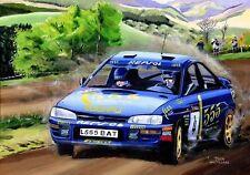 Original Painting Subaru Impreza 555 #4 McRae / Ringer Rally Australia Nagtegaal