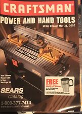SEARS CRAFTSMAN POWER AND HAND TOOLS CATALOG 2002