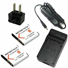 Charger + 2x Battery for Sony Cyber-shot DSC-WX100 DSC-WX150 DSC-WX200 DSC-WX220