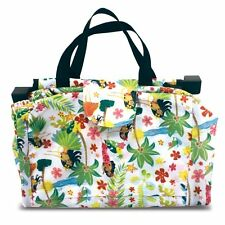 Hawaiian Hula Girls Dancers Foldable Tote Attaches to Shopping Cart 15x15x11 New