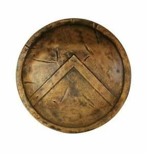 "Spartan Shield 24"" ~ King Leonidas 300 Medieval 18 Gauge Metal Shield ~ Cosplay"
