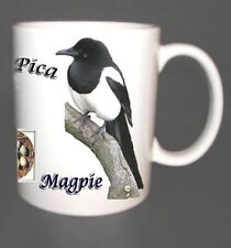 MAGPIE GARDEN BIRD DESIGN MUG LIMITED EDITION GIFT CROW FAMILY, EGGS, NEST