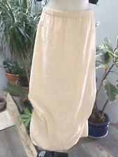 CREACONCEPT jupe longue coton melangé beige asymetrique doublée T 38