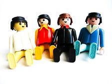 Lot of 4 Vintage Geobra PLAYMOBIL Mini-Figures 1974 Toys Pretend Play 1970's VTG