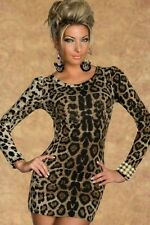 Polyester Cocktail Animal Print Unbranded Dresses for Women