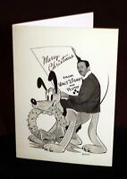 Walt Disney Archives Burbank Staff Christmas Card w/ Pluto 1941 Studio design