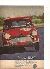 ORIGINAL VINTAGE 1964 MORRIS MINI 850 AUSTRALIAN ADVERT