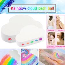 10x Cloud Rainbow Bath Salt Ball Essential Oil Effervescent Bubble Bath Bombs