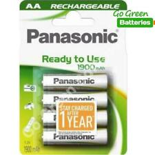 4 x Panasonic AA Rechargeable Battery 1900 mAh Ready To Use HR06 LR6 NiMH MN1500