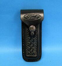 """FORD"" Logo, Black Leather Sheath, Folding Knife, Multi-Tool, Made in USA"
