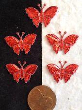 20 Butterflies butterflyTiny Iridescent Red Sparkle Embellishments Craft Frames