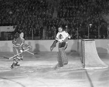 George Armstrong, Glenn Hall Toronto Chicago Game Auction 8x10 Photo