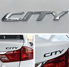 "768- ""CITY"" LOGO MONOGRAM BADGE STICKER EMBLEM HONDA CIVIC JAZZ CRV BRIO CHROME"