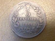 MONETA REGNO Vittorio Emanuele II 5 centesimi  1861  Bologna mb
