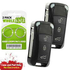 2 Replacement For 2009 2010 2011 Porsche Cayenne Key Fob Remote Shell Case