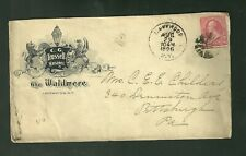 1896 Cover C.G. Trussell Manager The Waldmere Lakewood New York to Pennsylvania