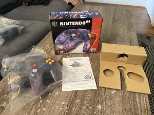 Nintendo 64 N64 Atomic Purple Controller CIB Complete Barcode Box Variant