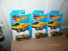 3 2014 HOT WHEELS 1971 FORD MUSTANG MACH 1 #94/250 HW CITY (GOLD)