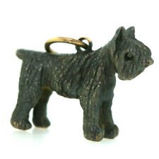 Bouvier Des Flandres Charm by Meche in 14k Yellow Gold and Rhodium