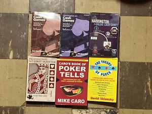 Poker Books Lot - 6 Books