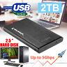 "2TB USB 3.0 2.5""External Hard Drive Portable Ultra Slim for Mac Windows 10/ 8/ 7"